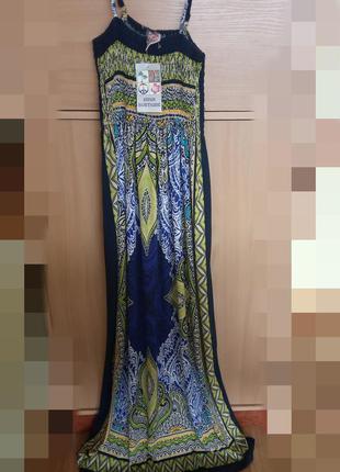Шикарный, яркий,легкий, длинный сарафан в восточном стиле