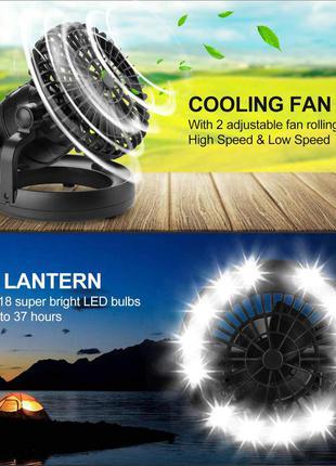Фонарь кемпинговый LED, фонарь с вентилятором, фонарь