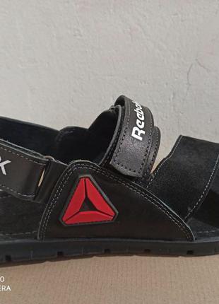 Кожаные мужские летние сандалии Reebok большого размера 46, 47, 4