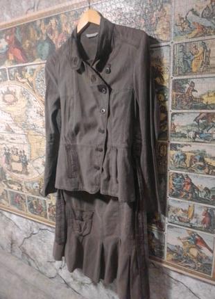 Женский легкий костюм-двойка (жакет+юбка) Promod