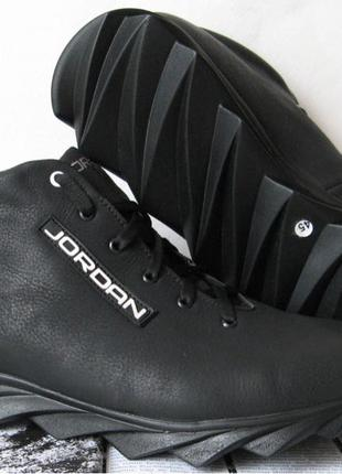 Jordan зимние кроссовки! Мужские кросовки натуральная кожа обувь