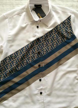 Крутая мужская рубашка в стиле fendi