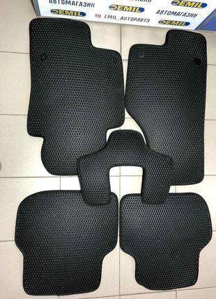 EVA коврики в салон автомобиля - полимерные черные (ком-кт)