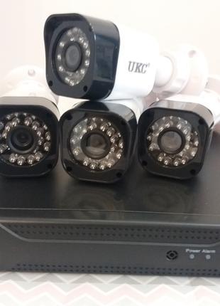 Камеры видеонаблюдения и регистратор IP DVR KIT CAD D001 2mp/4ch