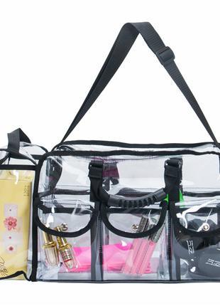 Сумка органайзер для визажиста/стилиста Beauty bag ПВХ прозрачная