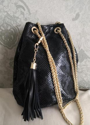 Красивая элегантная кожаная сумочка genuine leather, италия 🌹👜🔥