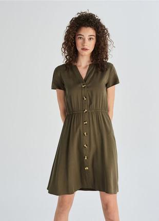 Платье с красивыми пуговицами🌿хаки
