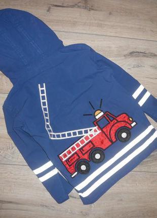 Куртка ветровка дождевик винил прорезиненный пожарная машина 1...
