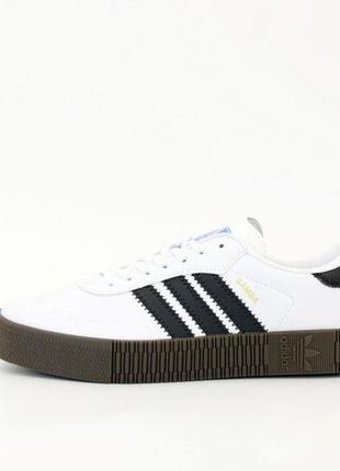 Adidas samba ✰ мужские кожаные кроссовки ✰ белого цвета 😻