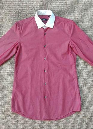 Hugo boss рубашка с отливом оригинал (m)