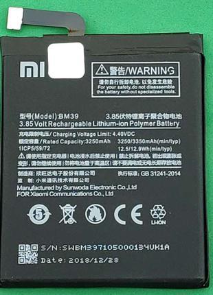 Аккумулятор, батарея,АКБ для телефона Xiaomi Mi6, BM39 (3350 mAh)