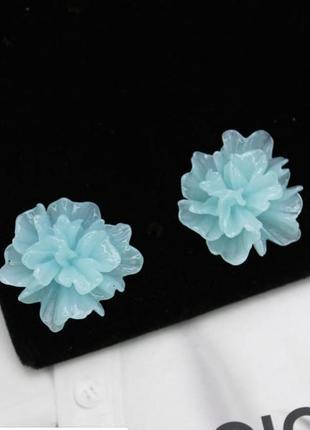 Серьги гвоздики цветок