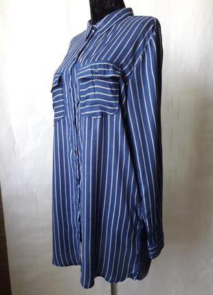 Платье рубашка в полоску h&m