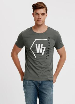 Мужская футболка lc waikiki / лс вайкики цвета хаки