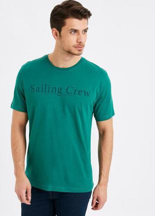 Зеленая мужская футболка lc waikiki / лс вайкики sailing crew
