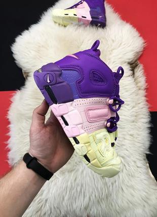 Женские кроссовки nike air more uptempo violet pink