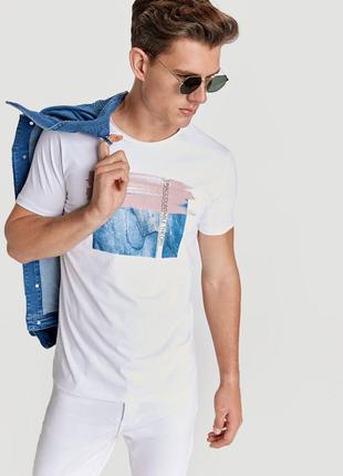 Белая мужская футболка lc waikiki / лс вайкики unaccountable t...