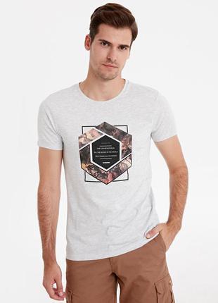 Серая мужская футболка lc waikiki / лс вайкики new direction