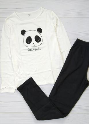 """Хлопковая пижама """"панда"""", штаны, кофта. 10лет"""
