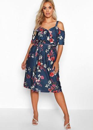 Оригинальное цветочное платье boohoo