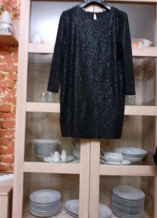 Шикарное,  иммитирующее натуральную кожу платье большого размера