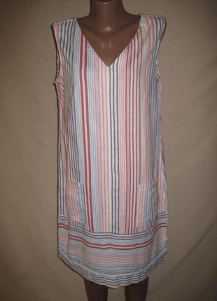 Льняное платье некст р-р14