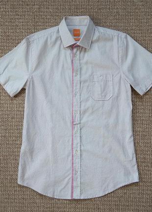 Hugo boss тенниска рубашка slim fit оригинал (m)