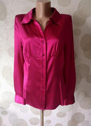 Шелковая блуза рубашка  цвета марсала