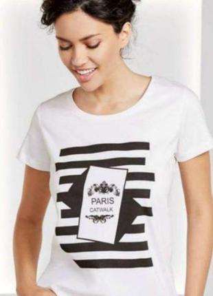 Белая футболка esmara l 44 /46 немецкий