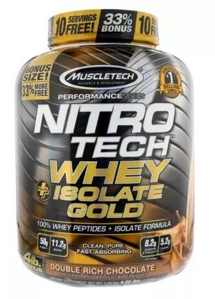 Протеин, Muscletech, Nitro Tech Whey Plus Isolate Gold (1,81кг)