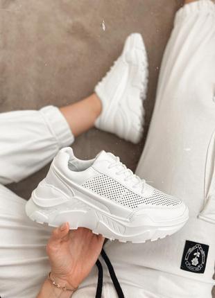 Новинка! белые кроссовки кроссы сетка летние весенние легкие д...