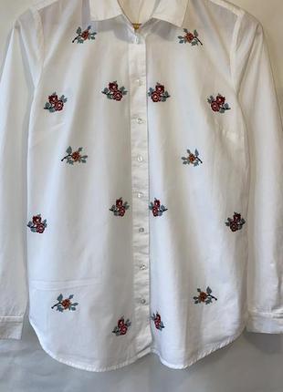 Коттоновая рубашка с вышивкой раз.s-m