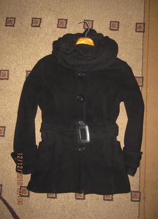 Кашемировое демисезонное стильное пальто большого размера