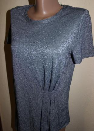 Sale стильна срібляста блуза футболка цікавого дизайну
