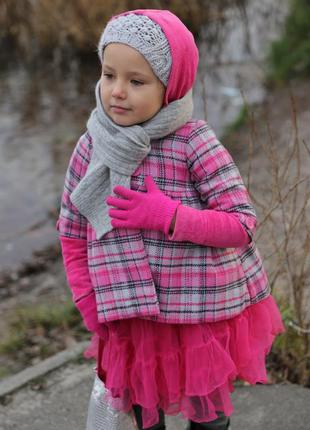 Шикарное шерстяное пальто на малышку 1-3 года 98 см