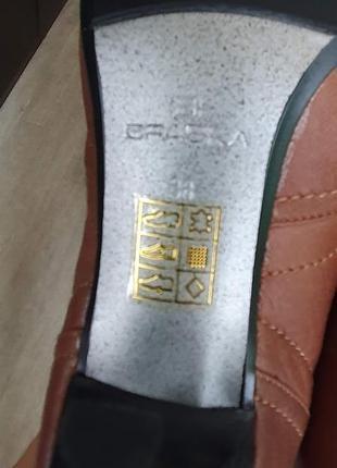 Шикарные кожаные ботинки braska на шнуровке 39