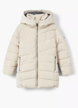 Теплая куртка фирмы mango для девочки 9-10 лет