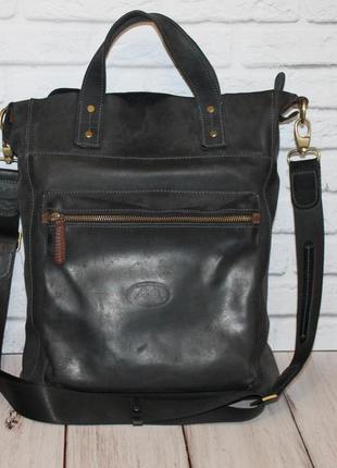 Кожаная сумка tony perotti 100% натуральная кожа