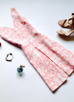 Летнее розовое льняное платье gap