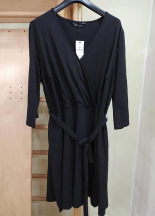 Трикотажное хлопковое платье