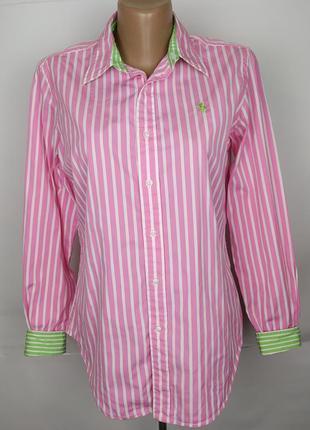 Блуза рубашка стильная оригинальная в полоску ralph lauren uk ...