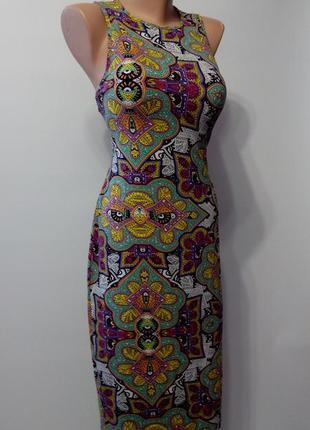 Платье  миди нарядное вечернее 50  размер футляр летнее новое ...