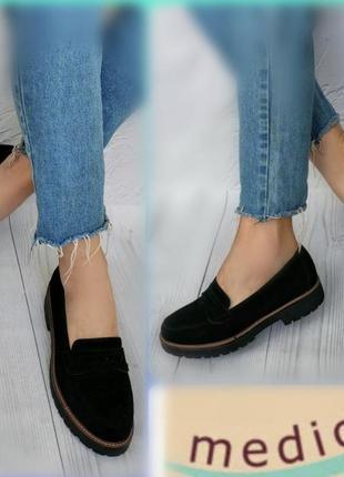 38р замша новые medicus германия замшевые туфли лоферы мокасины