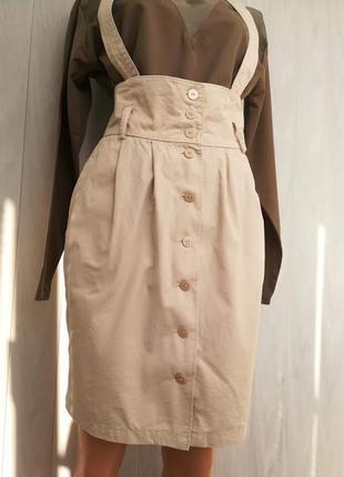 💚котоновая юбка с высокой талией 💚