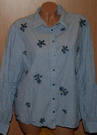 Блуза с элементами вышивки  бренда primark / 100%хлопок /