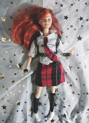 Кукла Ооак школьница чертик, Барби ручная работа