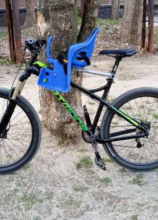 Велокресло переднее на прочной металлической основе