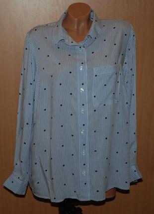 Блуза принтованая бренда  papaya /свободный покрой/
