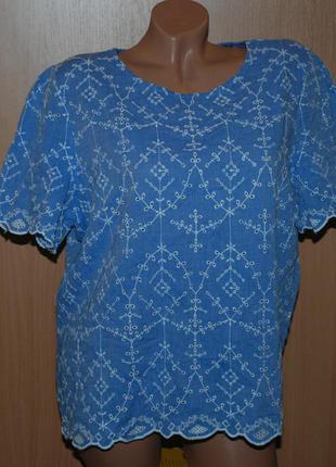 Блуза с перфорацией бренда george  /100%хлопок/