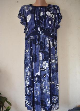 Красивое новое платье с принтом большого размера tu